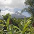 Вулкан Аренал и тропическая растительнось